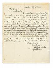 PARKER, ELY SAMUEL. Autograph Letter Signed,