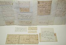 (AMERICANA.) Group of 20 items Signed, or Signed and Inscribed, by 19th-century military figures,