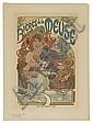ALPHONSE MUCHA (1860-1939). BIÈRES DE LA MEUSE. Maîtres de l'Affiche plate 182. 1899. 15x11 inches, 39x29 cm. Chaix, Paris.