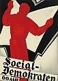 SVEN HENRIKSEN (1890-1935). SOCIAL - DEMOKRATEN. 1934. 33x24 inches, 85x61 cm. J.P. Jensens Trykkerier, [Copenhagen.]