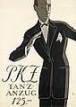 HUGO LAUBI (1888-1959). PKZ / TANZ - ANZUG 125. 1923. 50x35 inches, 127x90 cm.