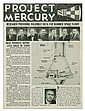 (ASTRONAUTS.) Project Mercury Brochure, Signed on the cover by the 7 Mercury astronauts and the Project Mercury Director.