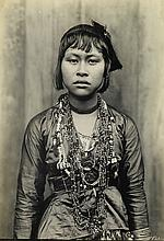 (PHILIPPINES) Binder containing 13 photographs depicting a variety of ethnographic portraits.