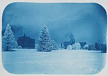 (IOWA CITY COLLEGE) Handsome cyanotype album compiled and, apparently, photographed, by Harry A. Little, Class of '08,
