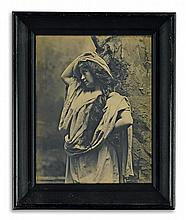 CAMPBELL, ALFRED S. (1840-1912) Unusual 3-dimensional relief photograph of a comely model.