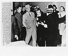 JACKSON, ROBERT (1934- ) Group of 3 photographs of Jack Ruby shooting Lee Harvey Oswald.