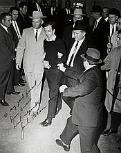 BEERS, JACK (1923-1975) Jack Ruby shooting Lee Harvey Oswald.