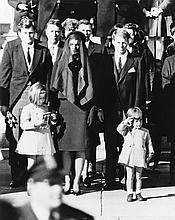 (JOHN F. KENNEDY) Group of 5 photographs relating to the funeral of JFK, including a triptych of