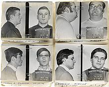 (BOSTON) Pocket-size mug shot album with 30 photographs of hard-boiled criminals picked
