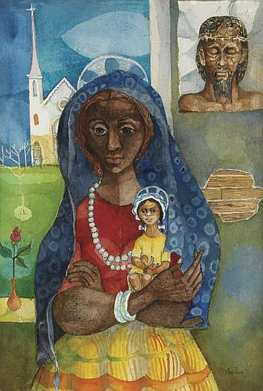 FREDERICK D. JONES, JR. (1914 - 2004) Mother and Child.