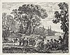 CLAUDE GELLÉE, LE LORRAIN Two etchings., Claude Lorrain, $900