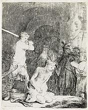 REMBRANDT VAN RIJN The Beheading of John the Baptist.