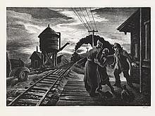 THOMAS HART BENTON Morning Train.
