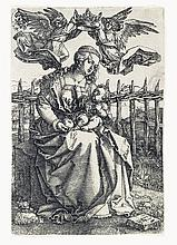 ALBRECHT DÜRER The Virgin and Child Crowned by Two Angels.