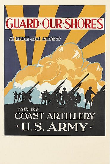 DESIGNER UNKNOWN. GUARD OUR SHORES. 1941. 37x25 inches, 94x63 cm.