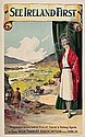 WALTER TILL (DATES UNKNOWN) SEE IRELAND FIRST. Circa 1925. 40x25 inches. Hely's Limited, Dublin.