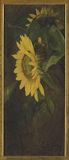 CHARLES ETHAN PORTER (1847 - 1923) Sunflowers.