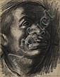 CHARLES WHITE (1918 - 1979) Untitled (Head of a Man).