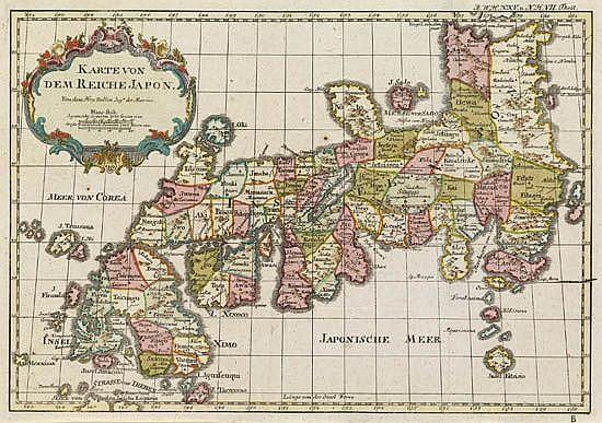 BELLIN, JACQUES NICOLAS. Karte von dem Reiche Japon.