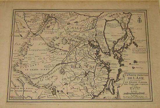 FER, NICOLAS de. La Partie Orientale de l'Asie ou se trouvent le Grand Empire des Tartares Chinois et Celuy du Japon.