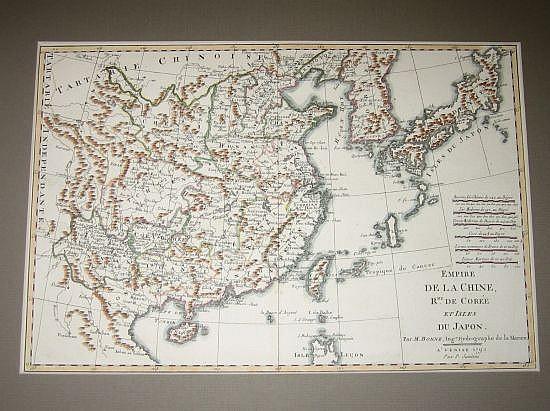 BONNE, RIGOBERT. Empire de la Chine, Rme. de Corée et Isles du Japon.