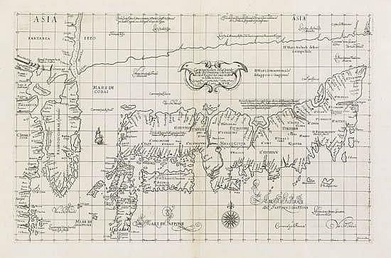 DUDLEY, ROBERT. Carta particolare della Grande Isola de Giapone è di Iezo con il Regno di Corai.