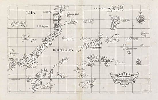 DUDLEY, ROBERT. Carta particolare d'una parte della Costa di China con l'Isola de Pakas . . .parte piu Australe del'Giapone.