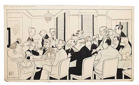 AL HIRSCHFELD The New York Drama Critics Circle.