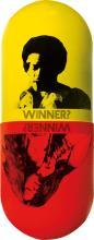 DESIGNER UNKNOWN. WINNER? / WINNER? 1970. 36x14 inches, 91x36 cm. L & S Productions.