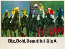 ROBERT M. CUNNINGHAM (1924-2010). BIG, BOLD, BEAUTIFUL - BIG A. 1965. 44x59 inches, 113x151 cm. Darien House, New York.