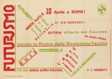 FILIPPO TOMMASO MARINETTI (1876-1944). FUTURISMO. 1932. 34x24 inches, 86x61 cm. Lamberto Leandri.