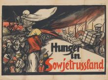 DE (INITIALS UNKNOWN). HUNGER IN SOWJETRUSSLAND. 1921. 28x37 inches, 72x96 cm. H. Birkholz, Berlin.