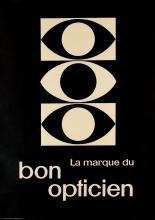 DESIGNER UNKNOWN. LA MARQUE DU BON OPTICIEN. 50x35 inches, 128x90 cm. Rothmayr & Wagner / Bollmann, Zürich.