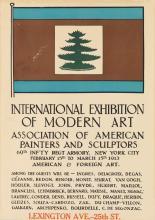 DESIGNER UNKNOWN. INTERNATIONAL EXHIBITION OF MODERN ART. 1913. 20x14 inches, 50x35 cm.