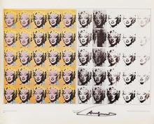 D'APRÈS ANDY WARHOL (1928-1987). MARILYN MONROE / ANDY WARHOL. 22x27 inches, 56x70 cm. Shorewood Publishers, Inc., [New York.]