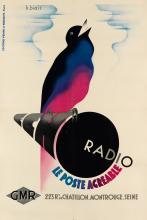 HENRI I. BIAIS (DATES UNKNOWN). ECHO RADIO. Circa 1935. 46x31 inches, 117x78 cm. Éditions Vente et Publicité, Paris.