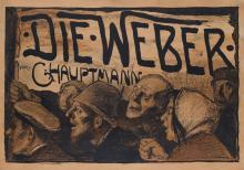 EMIL ORLIK (1870-1932). DIE • WEBER / VON G. HAUPTMANN. 1897. 28x40 inches, 71x101 cm. A. Haase, Prague.