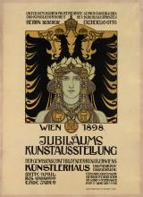 HEINRICH LEFLER (1863-1919). JUBILÄUMS KUNSTAUSSTELLUNG. 1898. 47x34 inches, 120x88 cm. S. Czeiger, Vienna.
