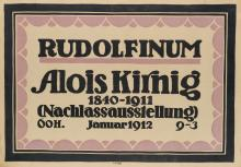 DESIGNER UNKNOWN. RUDOLFINUM / ALOIS KIRNIG. 1912. 24x35 inches, 62x89 cm.