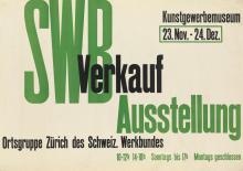 DESIGNER UNKNOWN. SWB AUSSTELLUNG / VERKAUF. 1932. 25x35 inches, 64x90 cm.
