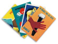 VARIOUS ARTISTS. [FRENCH SAFETY CARDS.] Group of 36 cards. 1950s-1960s. Each approximately 5x3 inches, 13x9 cm.