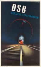 AAGE RASMUSSEN (1913-1975). DSB. 1937. 39x24 inches, 99x61 cm. Andreasen & Lachmann, Copenhagen.