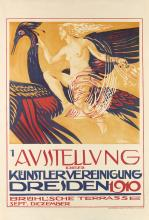 PAUL OTTO RÖSSLER (1873-1957). 1 AUSSTELLUNG DER KUNSTLERVEREINIGUNG DRESDEN. 1910. 41x26 inches, 106x66 cm. Wilhelm Hoffmann, Dresden.