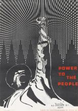 DESIGNER UNKNOWN. POWER TO THE PEOPLE / [BLACK PANTHER PARTY.] 23x16 inches, 60x42 cm.