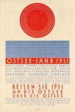 ALFRED MAHLAU (1894-1967). OSTSEE - JAHR. 1931. 27x18 inches, 68x47 cm. H.G. Rahtgens, Lubeck.