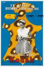 R. QUEINNEC (DATES UNKNOWN). KODAK / BROWNIE FLASH. Circa 1950s. 23x15 inches, 59x40 cm. S.A. Courbet, Paris.