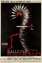 RAYMOND GID (1905-2000). BALLETS PEAUX - ROUGES. 1953. 58x39 inches, 149x99 cm. Bedos & Cie, Paris.