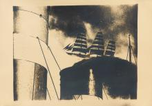 PAUL MARTIAL (DATES UNKNOWN). [O.T.U.A.] Silver print photomontage. Circa 1930. 31x44 inches, 80x113 cm. [Éditions Paul Martial, Paris.