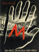 DESIGNER UNKNOWN. M EIN FRITZ LANG FILM. Two programs. 1931. Sizes vary.