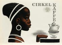 AAGE SIKKER-HANSEN (1897-1955). CIRKEL KAFFE. 1955. 24x33 inches, 61x84 cm. Permild & Rosengreen, Copenhagen.
